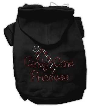 Candy Cane Princess Rhinestone Hoodie Black XL (16)